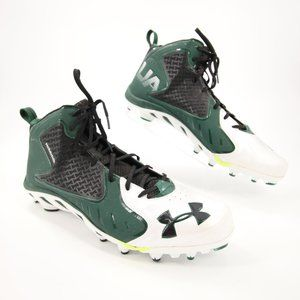 Under Armour Green White Football Cleats 18